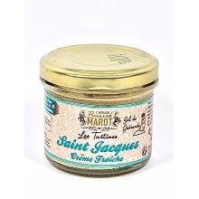 saint jacques crème fraiche 100 gr