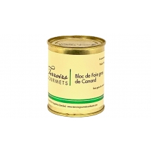 bloc de foie gras de canard 130gr terroirs gourmets